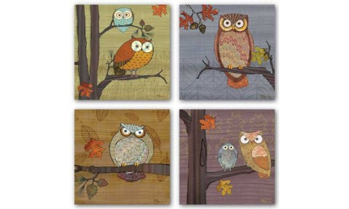 Awesome Owl Picture Set, by Paul Brent