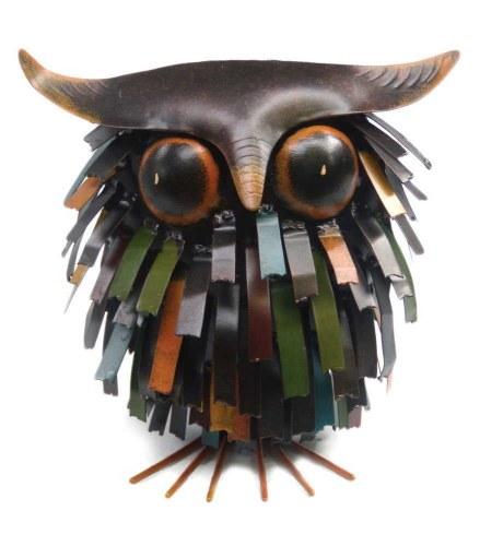 Blue Handworks Spiky Owl Sitter Sculpture