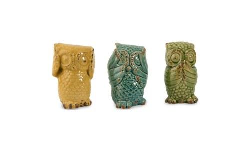 IMAX Three Wise Owls See No Evil, Hear No Evil, Speak No Evil Statues