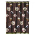 Owl Printed Microfiber Shower Curtain