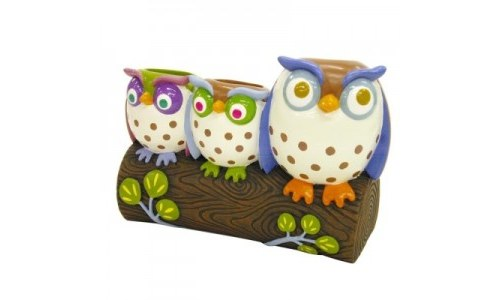 Owl Resin Toothbrush Holder, Allure Home Creations