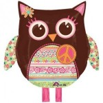 Owl Hippie Mylar Party Balloon Decoration