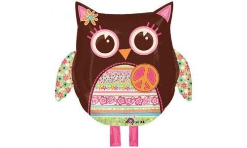 Owl Hippie Mylar Party Balloon Decoration