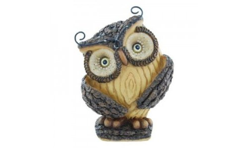 Woodsy Whimsical Owl Figurine Statue, 4.5-inch