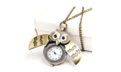 Owl Locket Watch With Flappy Wings