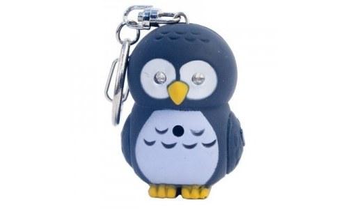 LED Owl Keychain with Sound