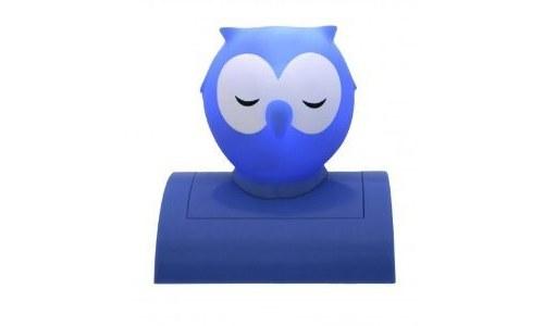 Blue Night Owl Night Light
