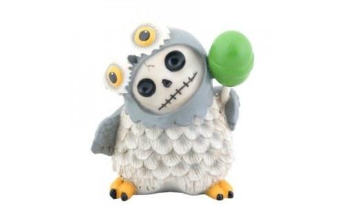 Furry Bones Snowy Hootie Owl Statue