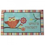 Owl Who Doormat, Townhouse Rug Decor