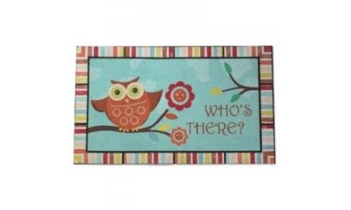 Owl Who Doormat, Townhouse Rug Decor