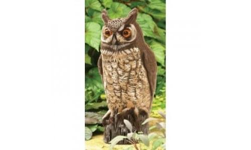 Dalen Gardeneer 16 inch Molded Garden Owl Scarecrow Statue
