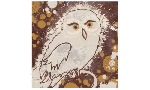 Premium Giclee Print Owl II Owl Art