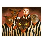 The Officials, Giclee Owl Print