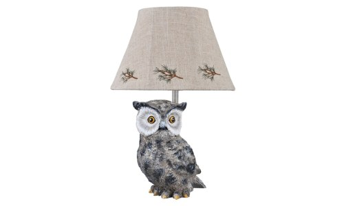 A Homestead Shoppe Pine Owl Accent Lamp
