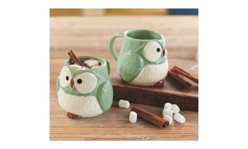 Ceramic Owl Mugs (set of 2)