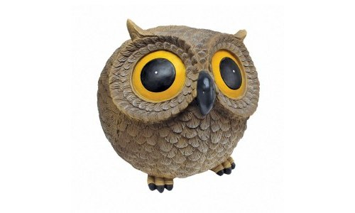 Puffy the Roly Poly Garden Owl Statue