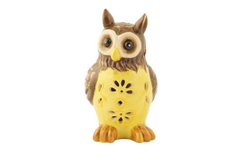 Lovely Ceramic Owl Solar Light