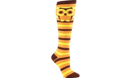 Retro Owl Knee High Socks By Sock It To Me