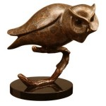 San Pacific International Owl On Branch Statue