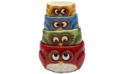 4-Piece Owl Measuring Cup Set