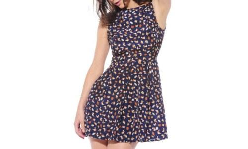 AX Paris Womens Owl Dress Owl Printed Skater Dress