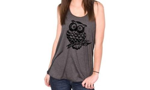 Bella Flowy Owl Tank Shirt