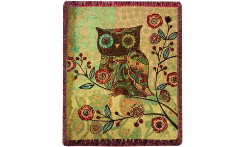 Milo Collection Owl Tapestry Throw