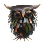 Spiky Owl Sitter Owl Sculpture