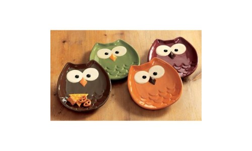 Tag Owl Shaped Appetizer Plate