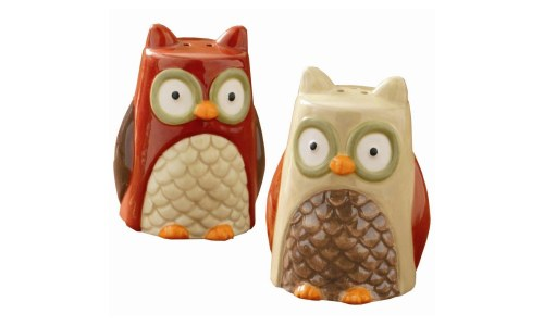 Tag Turning Leaves Collection Owl Salt and Pepper Shakers