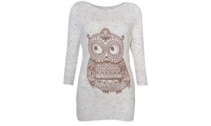 VIP Boutique Women's Fleck Owl Jumper Shirt.500