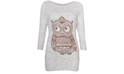 VIP Boutique Womens Fleck Owl Jumper Shirt