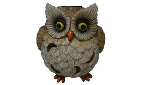 Welland Owl Garden Statue with Solar Light .500