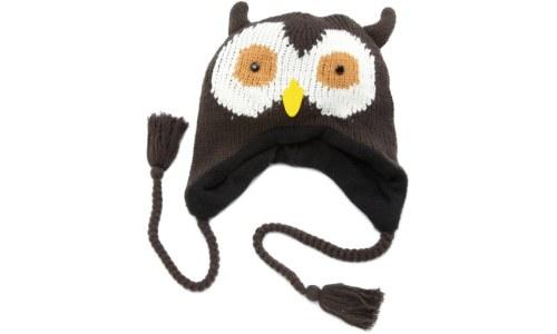 Women's Animal Face Owl Knit Hat