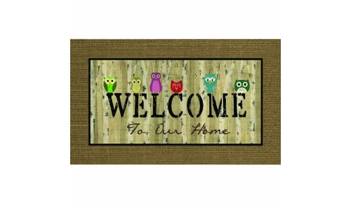 Apache Mills Welcome Owls Door Mat
