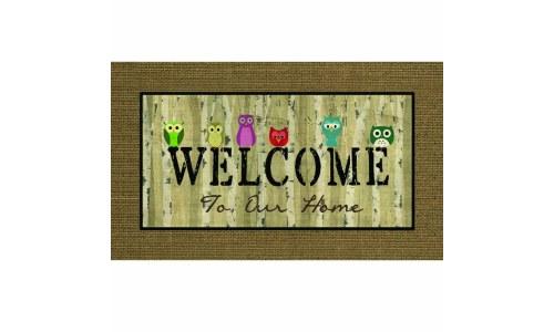 Apache Mills Welcome Owls Door Mat