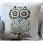 Decorative Throw Owl Pillow Case Cushion Cover