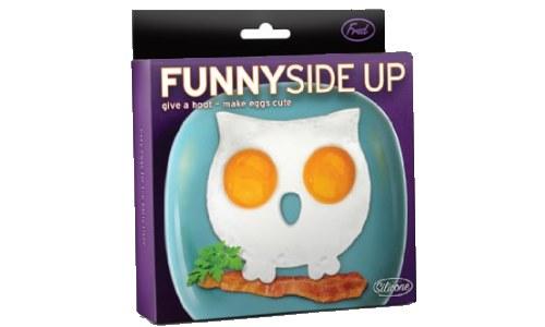 Funny Side Up Owl Egg Mold Novelty Egg Ring