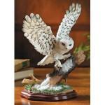 Majestic Snowy Owl Figurine Statue