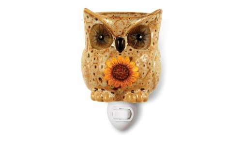 Plug-in Ceramic Stoneware Tart Owl Candle Warmer