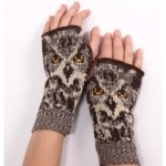 Womens Owl Gloves Handwarmers
