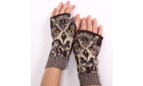 Womens Owl Gloves Handwarmers