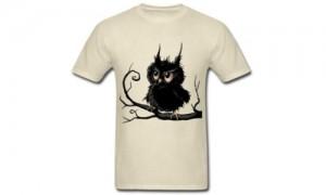 Stylish Grumpy Fogy Owl T-Shirt.500