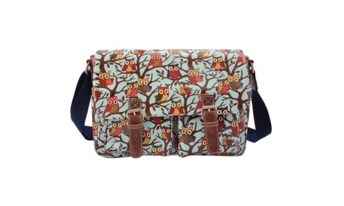 Anna Smith Oilcloth Owl Messenger Bag