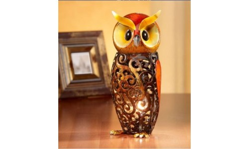 Deco Flair Owl Figurine Light Luminary Owl Lamp