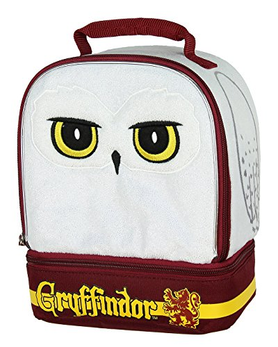 Amzbeauty Owl Lunch Bag for Kids 3D Print Reusable Square Insulated Lunch Box